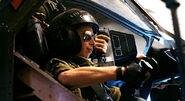 Ferro in cockpit side view