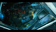 Alien Isolation Concept Art BW anesidorainterior bridge 02
