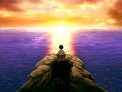 Aang meditating during the summer solstice.png