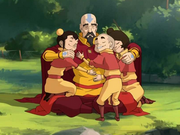 Tenzin and his children..png