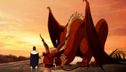 Zuko mounts a dragon