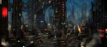 Futuristic city by joakimolofsson-d52p2fd