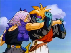 Trunks Fighting Kogu in Bojack Unbound 2