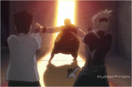 Cain Fury & Riza Hawkeye Repeatedly Shooting Gluttony
