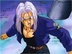Trunks Unable to Reason With Vegeta in Broly the Legendary Super Saiyan