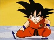 Goku Preparing for his Fight With Tien