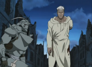 Alphonse Elric Believing Scar Has Defeated the Crimson Alchemist