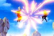 Goku & Majin Vegeta Fighting 2