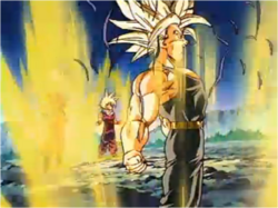Trunks Having Transformed into an Ascended Super Saiyan