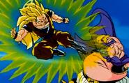 Goku Kicks Majin Buu while they fight