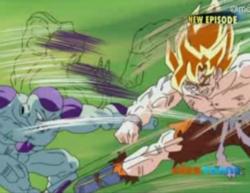 Super Saiyan Goku & Frieza Fighting 2