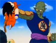 Goku Being Overpowered by King Piccolo