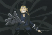 Edward Elric Being Pulled Through The Gate After Seeing His Brother's Body