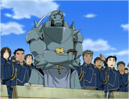Alphonse Watching his Brother Fight While Holding Stray Cat