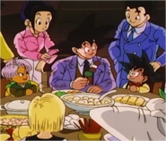 Goku With His Friends & Family at a Party