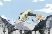 Edward Elric Killing Father After Greed's Sacrifice