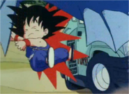 Goku Being RanOver by Bulma's Car