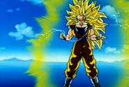 Super Saiyan 3 Goku Before Powering Down