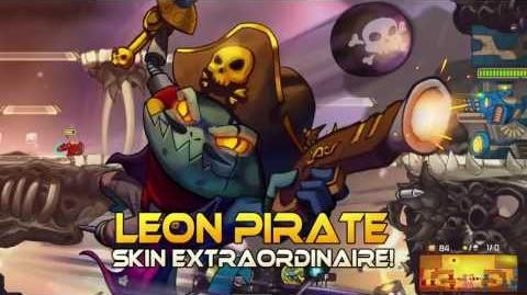 Awesomenauts - Leon Pirate Skin Showcase
