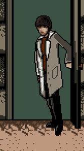Dr Hammond in Doorway