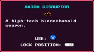 Weapons AxiomDisruptor