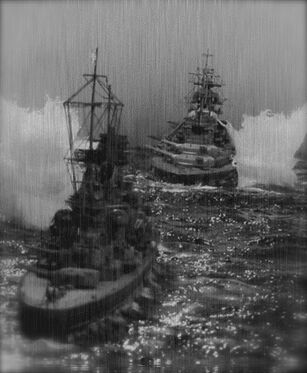 Bismarck Chasing Prinz Eugen