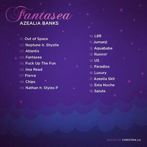 Fantasea (mixtape) Tracklist