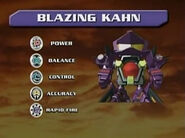 Blazing Kahn Stats