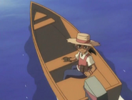 Kaito on a boat
