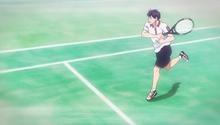 S2E25 Eiichiro using Miyagawas drive volley