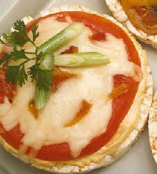 Bacon-tomato rice-cake