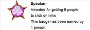 Speaker (earned hover)