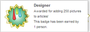 Designer (earned hover)