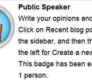 Openbaar spreker