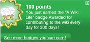 A Wiki Life (earned)