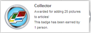 Collector (earned hover)