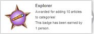 Explorer (earned hover)