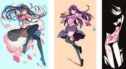 Monogatari art styles