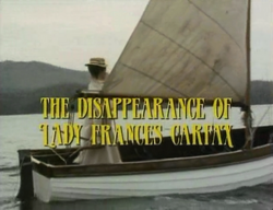 SHG title card The Disappearance of Lady Frances Carfax