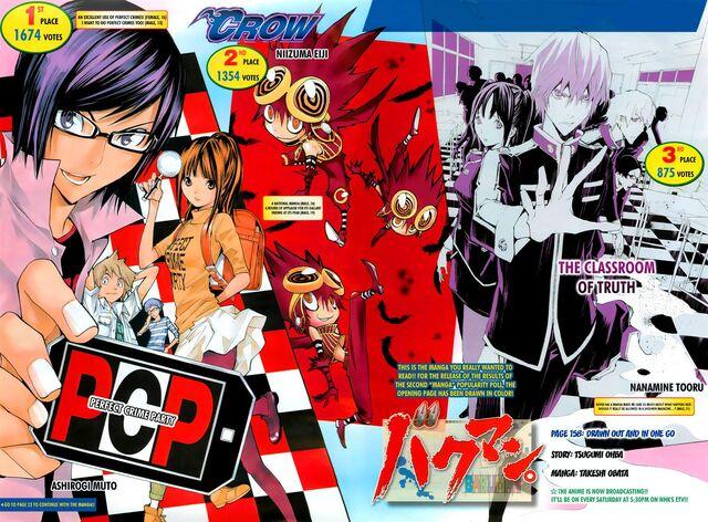 """File:Chapter 158 Title Page - 2nd Bakuman """"Manga"""" Popularity Poll Page 2.jpg"""