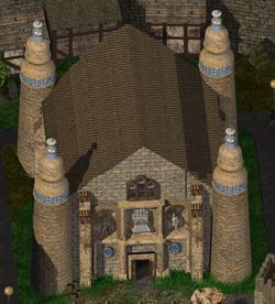 Temple Of Helm Baldur's Gate City Building