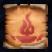 Conjure Lesser Fire Elemental Icon Scroll