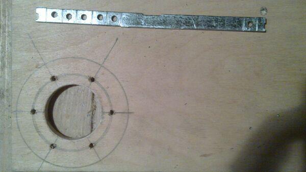 Making washer rim hole template - 09