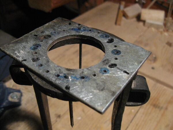 Drilling field-frame ring holes - 03