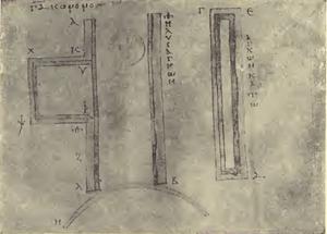Case and slider - Codex M fol. 56 recto - Schneider 1906