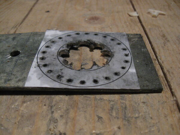 Making washer rim drilling template - 04