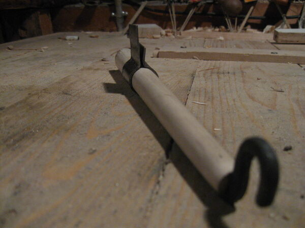 Making the metal hoop for the arm - 13