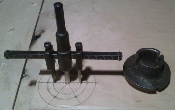 Making washer rim hole template - 03