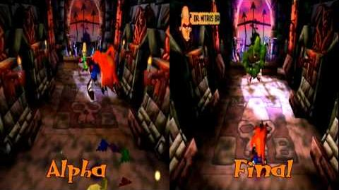 Crash Bandicoot 1 Alpha VS Retail - Nitrus Brio