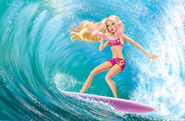 Merliah surprise with pink hair